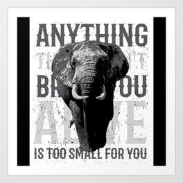 Elephant Africa Lover Safari Gift Idea Motif Art Print