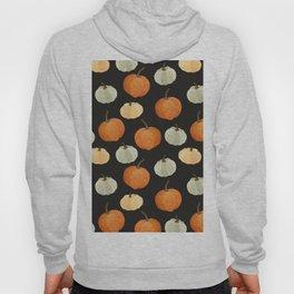 Orange yellow gray black watercolor pumpkin pattern Hoody