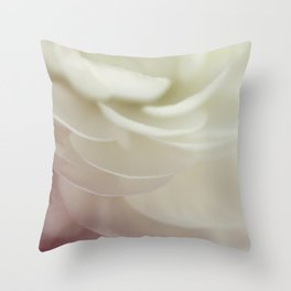 With petals soft as air Throw Pillow