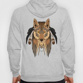 Tribal Coyote Hoody