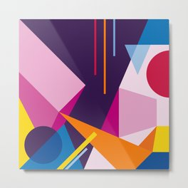Abstract modern geometric background. Composition 3 Metal Print