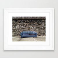 sofa Framed Art Prints featuring sofa free by danielle marie
