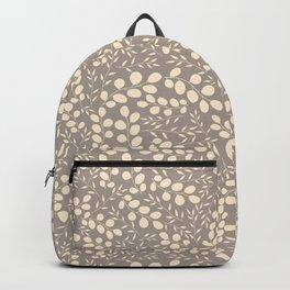 Elegant plant background. Craft paper gentle leaves Backpack