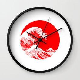 Hokusai great wave of Kanagawa Wall Clock