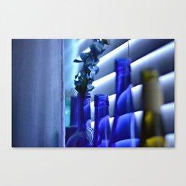 Blue Bottles - 3 Canvas Print
