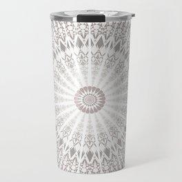 Taupe Mandala Travel Mug