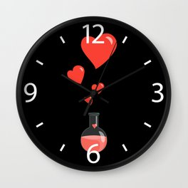 Love Chemistry Flask of Hearts Wall Clock