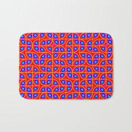Springtime Pop Art Red & Blue Dot Pattern Bath Mat