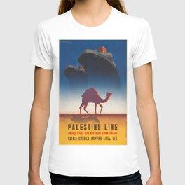 Vintage poster - Palestine Line T-shirt