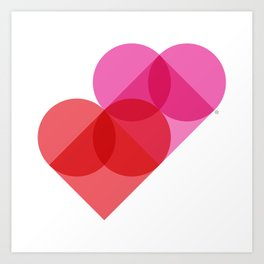 Geometric Love Art Print