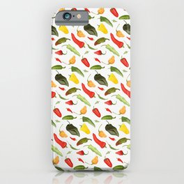 Watercolor Hot Peppers iPhone Case