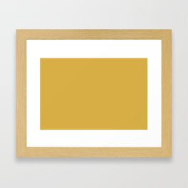 PANTONE 14-0952 Spicy Mustard Framed Art Print
