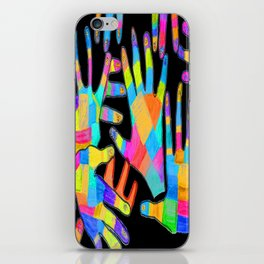Hands of colors   Hands of light iPhone Skin