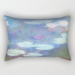 Claude Monet Water Lilies Pink 1899 Rectangular Pillow