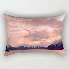 Rose Quartz Over Hope Valley Rectangular Pillow
