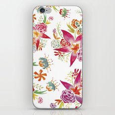 Tropical Flowers Watercolor iPhone & iPod Skin