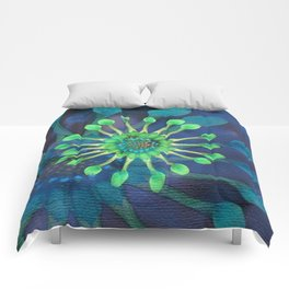 Passion Flower Watercolor Comforters