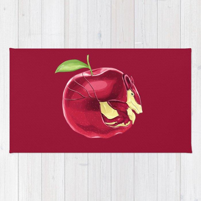 aa - appladillo // half armadillo, half apple rugbkkbros | society6 Apple Rugs