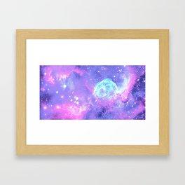 Pastel Galaxy Framed Art Print