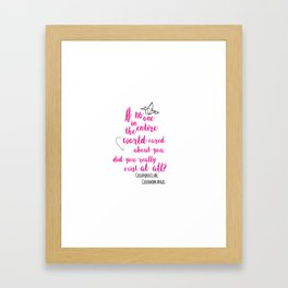 Do you exist at all? | Infernal Devices Framed Art Print
