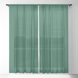 Teal The World (Green) Sheer Curtain