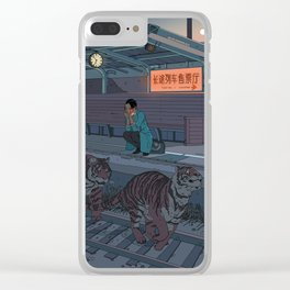 Tiger Station Clear iPhone Case