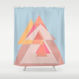 Geometric shapes dancing Shower Curtain