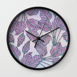 Colorful Caladiums Wall Clock