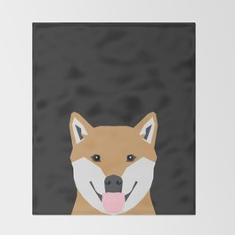 Indiana - Shiba Inu gift design for dog lovers and dog people Throw Blanket