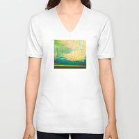 storm V-neck T-shirts featuring Storm by Neelie