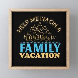Family vacation  beach holidays fun gift Framed Mini Art Print