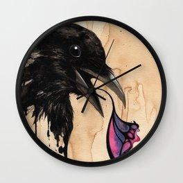 """Open"" series, XIV (Crow) Wall Clock"