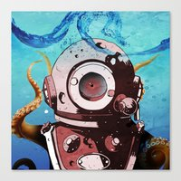 diver Canvas Prints featuring Diver by Tony Vazquez