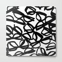 Black Eyeglasses Metal Print
