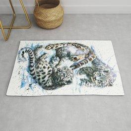 Little snow leopards Rug