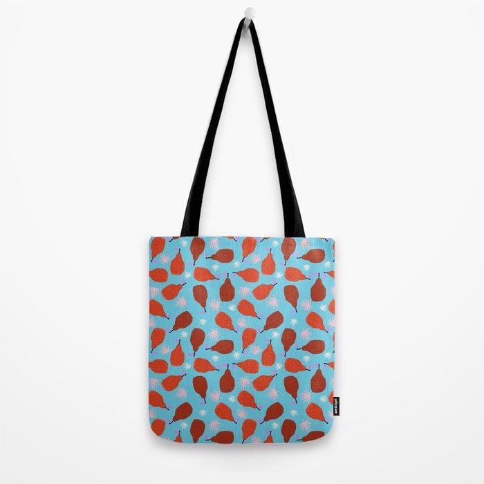 Legit - pears pattern print retro pattern throwback nature minimal modern abstract bright neon 80s Tote Bag