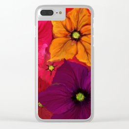Surfinie and anemones Clear iPhone Case