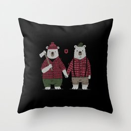 My Bear Valentine Throw Pillow