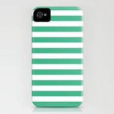 Horizontal Stripes (Mint/White) Slim Case iPhone (4, 4s)
