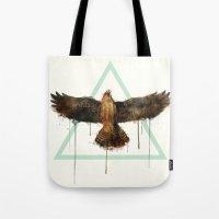 falcon Tote Bags featuring Falcon by Amy Hamilton