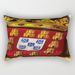 Royal arms in stained glass Rectangular Pillow