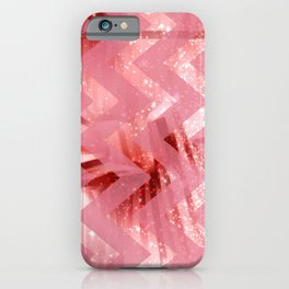 striped wavy pink glittered abstract digital pattern iPhone Case