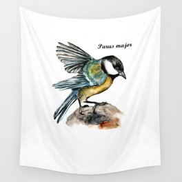 Parus Major Wall Tapestry