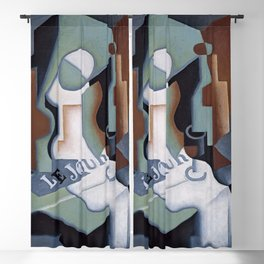 "Juan Gris ""Bottle and Fruit Dish"" Blackout Curtain"