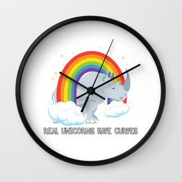 Real Unicorns Have Curves Wall Clock