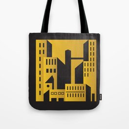 Golden city art deco Tote Bag