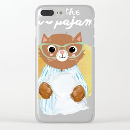 Funny cat's pajamas shirt - gift for cat lovers Clear iPhone Case