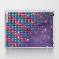 Colorful Hearts in Universe Laptop & iPad Skin