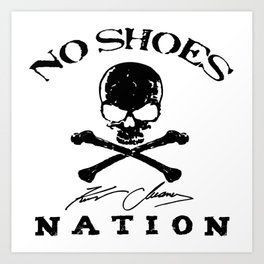 chesney no shoes nation kenny  Art Print