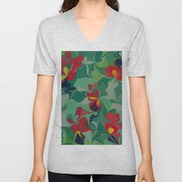 Flowers in the Wind 6 Unisex V-Neck